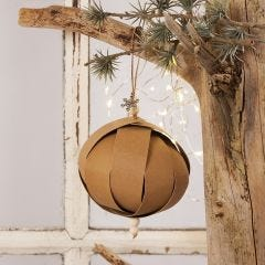 A Christmas Bauble from Faux Leather Paper Star Strips