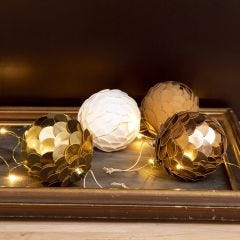 A  Christmas Bauble with Faux Leather Paper made to look like a Cone