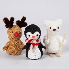 Polar Animals from Foam Clay