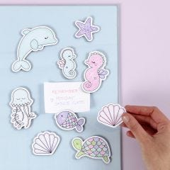 Sea Creature Magnets decorated with Markers