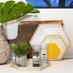 Wooden Trays decorated with Terrazzo Flakes