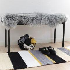 A crocheted Rug