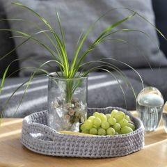 A Tray crocheted from Cotton Tube Yarn