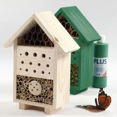 An Insect Hotel or a Bugs B&B painted with Craft Paint