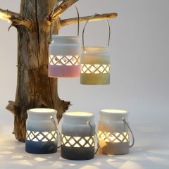 Lanterns decorated with a Colour Gradient