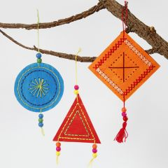 Colourful embroidered Hanging Decorations
