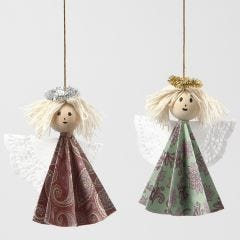 Angels made with a Folding Technique