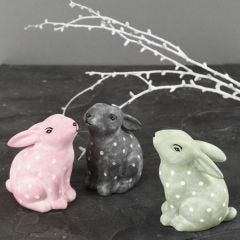 Porcelain Rabbits painted and decorated with Glass & Porcelain Paint and Glass & Porcelain Markers