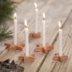 Star-shaped candle holders from self- hardening clay