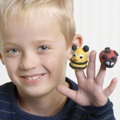Silk Clay Finger Puppets
