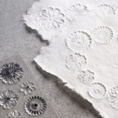 How to make handmade paper with relief