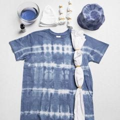 Tie-dye with elastic bands