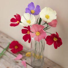 Cosmos crepe paper flowers