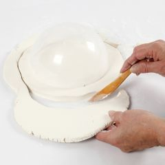 How to make a slab bowl from self-hardening clay