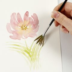 How to paint watercolours with light brush strokes