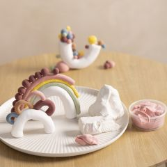 Sculptures from mixed clay