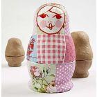 A Russian Babushka Doll with Napkins