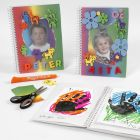 A Note Book with Rainbow Paper