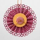 A Rosette made with Fiskars Border Punch System