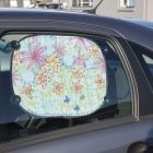 Car Sunshades decorated with a Field of Flowers drawn with Markers