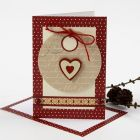 A Christmas Card with a Gift Tag & Vivi Gade Decorations