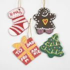 Christmas Shapes made from Clay using Shape Cutters