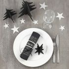 Decorating a black and silver Christmas Table