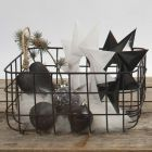 Folded Stars and painted hanging Decorations