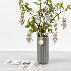 Easter Bunny Hanging Decorations with patterned Card Clothes