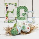 Standing Letters, painted and covered with Decoupage Paper