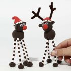 Silk Clay Reindeer with long Legs made from Pipe Cleaners and Nabbi Fuse Beads