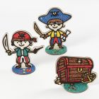 Pirates and a wooden Treasure Chest filled with Foam Clay