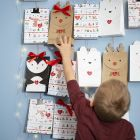 An Advent Calendar from Arctic Animal Paper Bags