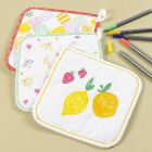 Potholders decorated with Textile Markers