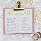 A Bucket List in a Bullet Journal and a Planner