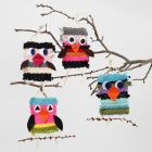 Woven Birds from Maxi Acrylic Yarn with Felt Details