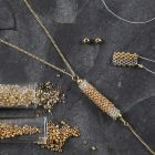 A Tube made from Rocaille Seed Beads for a Necklace Pendant