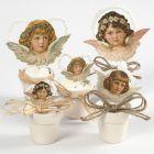 Angel Vintage Die-cuts in small Flower Pots