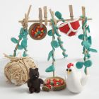 Make your own clothes rack with accessories for Shaun the Sheep