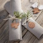 Christmas shapes from self-hardening clay for decoration or for hanging