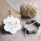 How to make handmade tags from paper pulp using shape cutters
