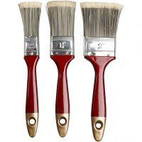 Varnish Brushes, W: 2,5-4,5 cm, 3 pc/ 1 pack
