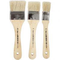 Varnish Brushes, W: 25+35+50 mm, 3 pc/ 1 pack