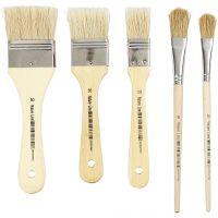Varnish Brushes, W: 13+17+25+35+50 mm, 10 pc/ 1 pack