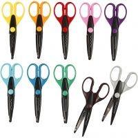 Pattern scissors, L: 16 cm, 10 pc/ 1 pack