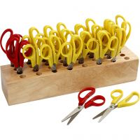 Kids Scissors, L: 12,5 cm, round, 1 set