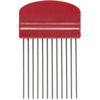 Quilling comb, L: 10,5 cm, W: 6,5 cm, 1 pc