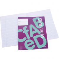 Exercise book with lined paper , A5, size 14,8x21 cm, 32 , 25 pc/ 1 pack
