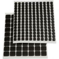 3D Foam Pads, size 5x5x2 mm, black, 217 asstd./ 1 pack