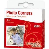 Photo Corners, W: 10 mm, clear, 250 pc/ 1 pack